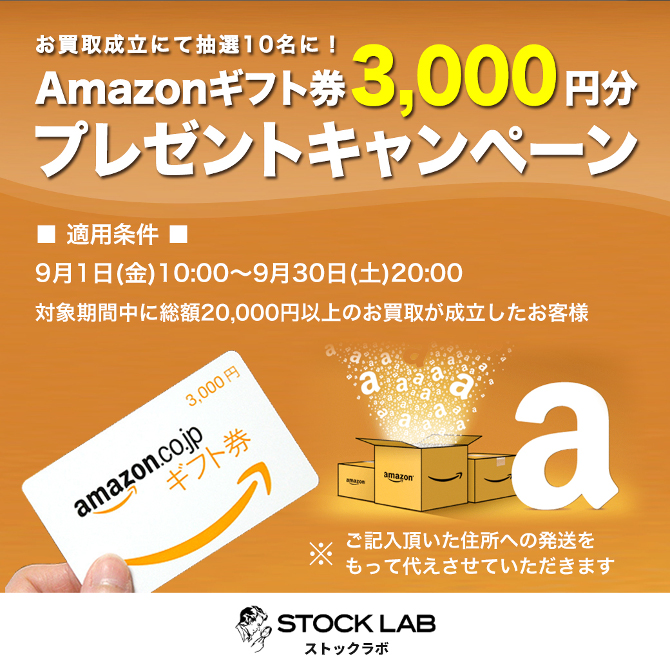 Amazonギフト券プレゼントキャンペーンバナー