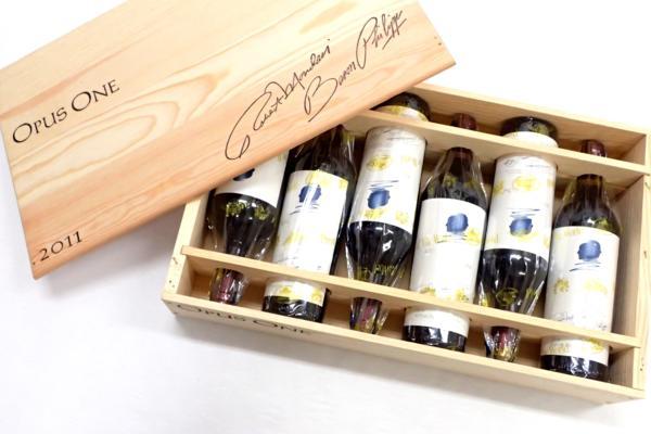 オーパスワン 2011 木箱付きワイン 高価買取いたしました!新宿でお酒売るならストックラボにお任せください!