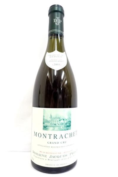 モンラッシェ 2003 ドメーヌジャックプリウール 高価買取いたしました! ワイン買取はお任せ下さい!