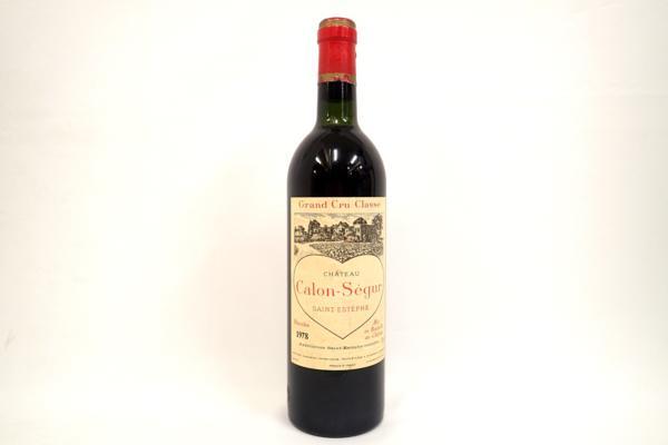 シャトー カロンセギュール 1978年 高価買取いたしました! ワインの買取はストックラボへ!