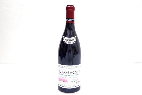DRCロマネコンティ 1998年 高価買取いたしました! ワインを売るならストックラボにお任せ下さい!