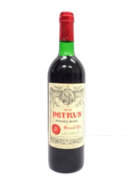 シャトーペトリュス 1976年 中央区にお住いのお客様より高価買取いたしました!ワイン売るならストックラボ!