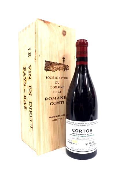 DRC CORTON コルトン グランクリュ 2012 750ml 木箱 店頭買取にて東京都大田区のお客様より高価買取いたしました!