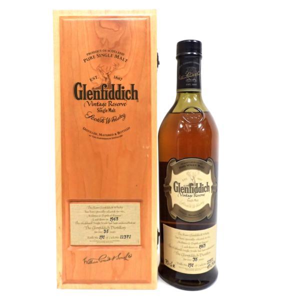 Glenfiddich グレンフィディック1963 35年 木箱付き 宅配買取にて北海道旭川市のお客様より高価買取いたしました!
