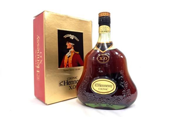 Hennessy ヘネシー X.O 金キャップ グリーン 旧ボトル 宅配買取にて群馬県沼田市のお客様より高価買取いたしました!