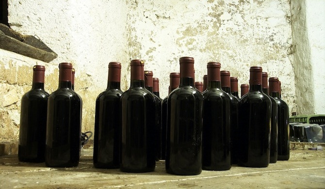 ワインの瓶たち